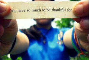 gratitude fortune cookie