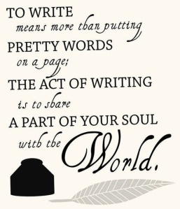 to write is to share your soul