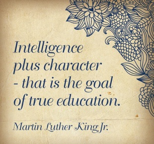 MLK, Jr. quote on character