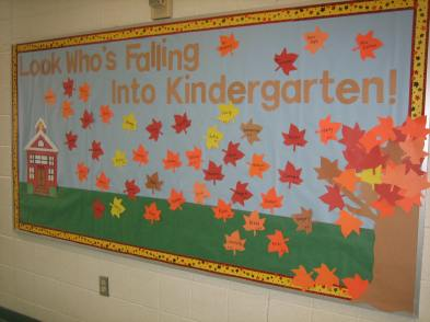 Kindgergarten bulletin board